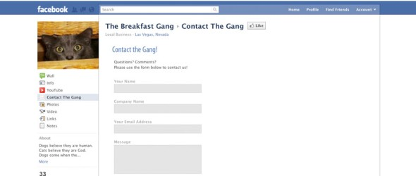 Breakfast Gang Contact Form
