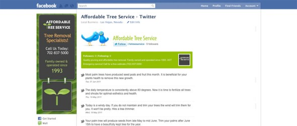 Affordable Tree Service Twitter App