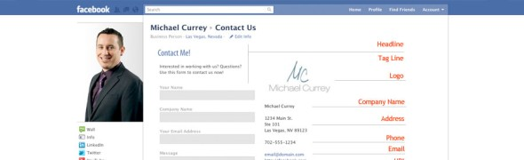 Contact Form on Facebook for Michael Currey