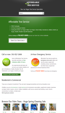 Affordable Tree Service - Your Tree Service Experts in the Las Vegas Valley - ipad