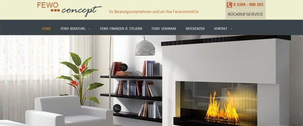 Fewo concept marketing selection interior design for Websites for interior designers