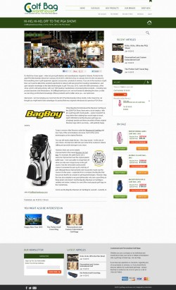 GolfBagWarehouse.com Blog Single Article Shopping Cart