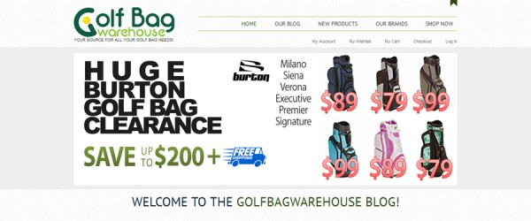 GolfBagWarehouse Blog HomePage