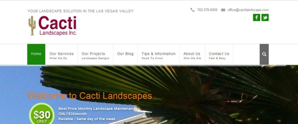 Cacti Landscapes Inc Homepage