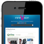 inlineVision Website Smartphone Version on a Smartphone