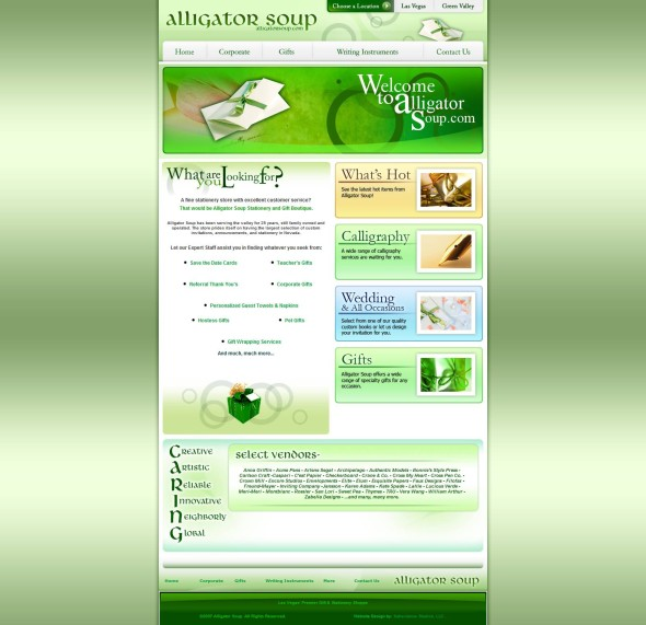 Alligator Soup Homepage Before