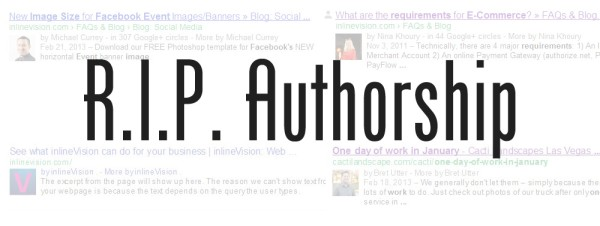 RIP Google Authorship