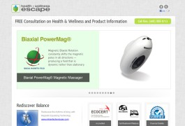 Landing Page Health-Wellness-Escape