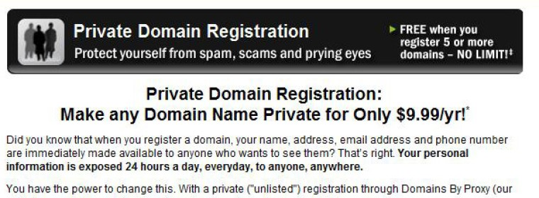 Private Domain Registration: What do you have to hide?