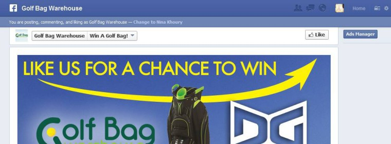 Golf Bag Warehouse: Facebook Contest / Fangate (Mobile Ready)