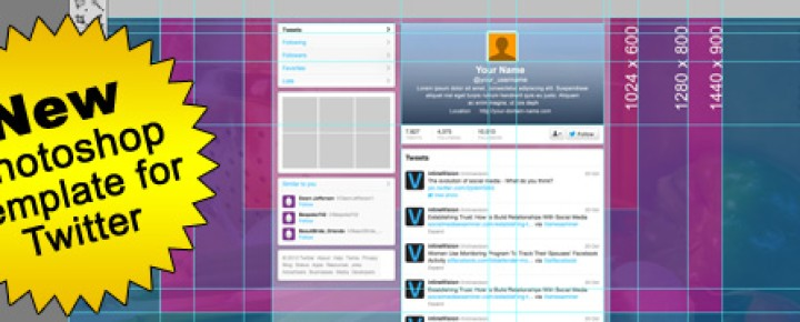 Seamless Twitter Background and Header Template – FREE