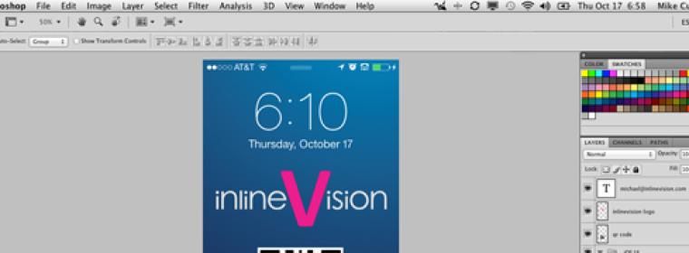 iPhone 5 (5C & 5S) Lock Screen Background Template – PSD