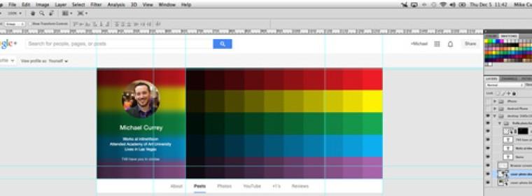 Google Plus Cover Photo & Profile Photo Template