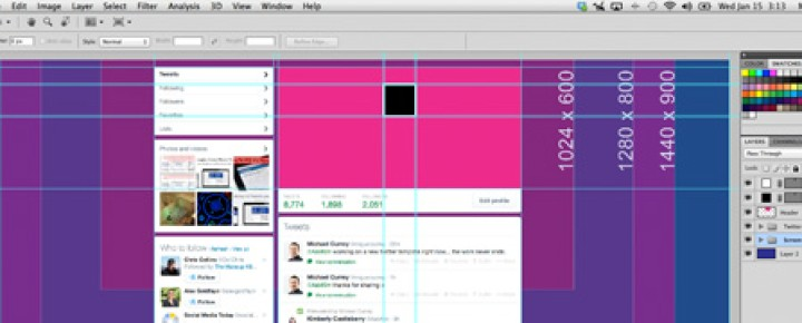 Twitter Background Template for Photoshop – Seamless Design