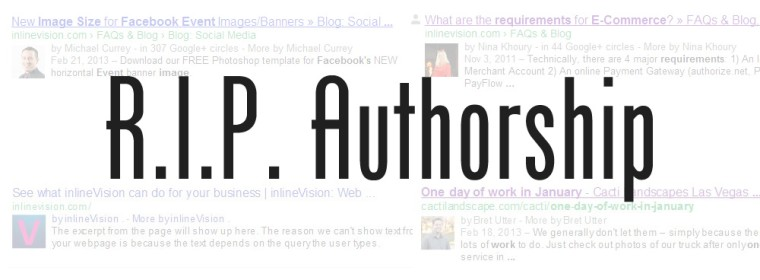 RIP Google Authorship, It Was Great Knowing You