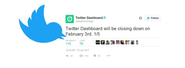 Twitter Dashboard, Twitter's business app, is shutting down