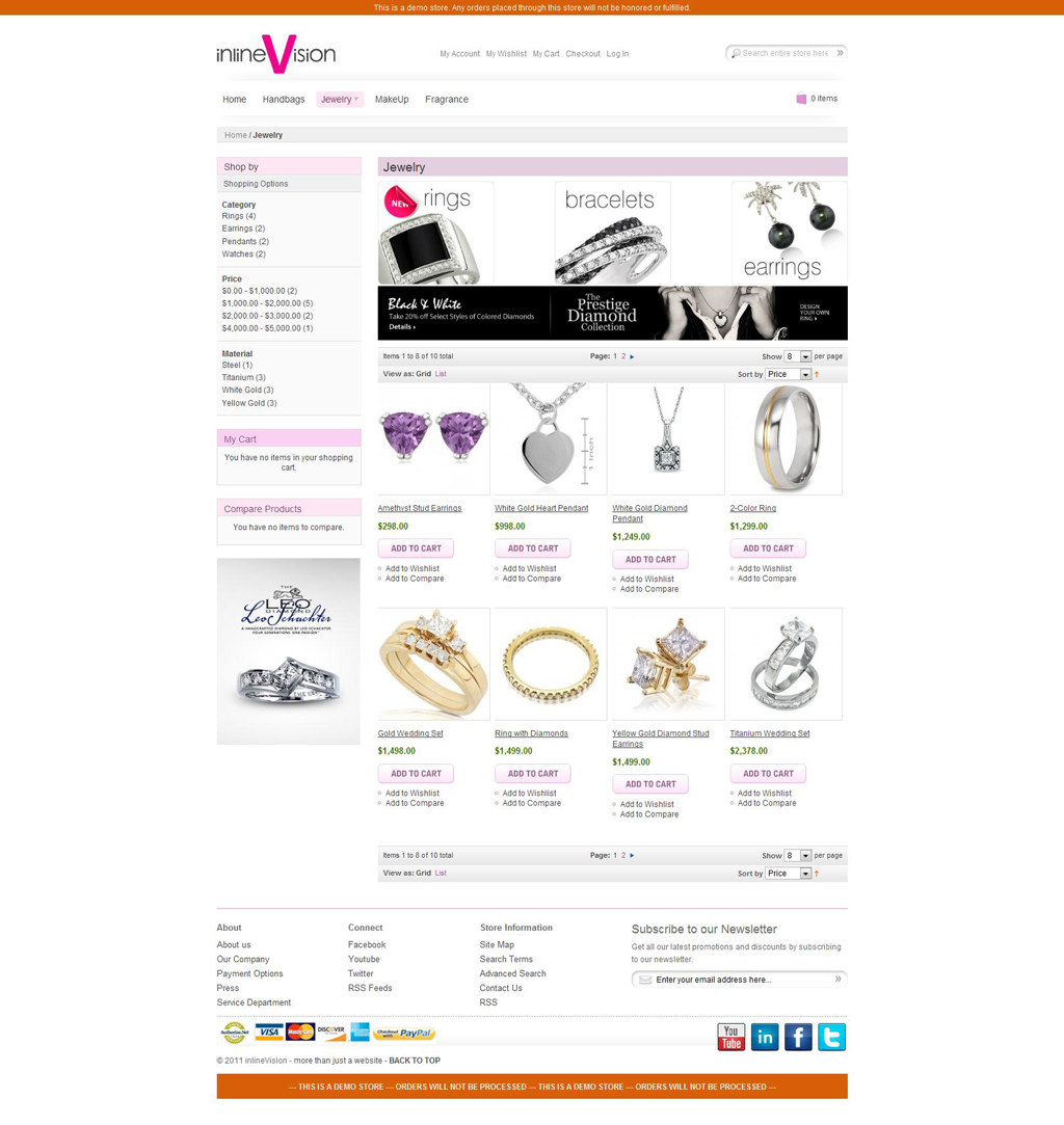 Jewelry inlineVision Demo Store