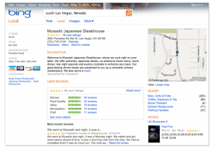 Bing Local Listing Screenshot