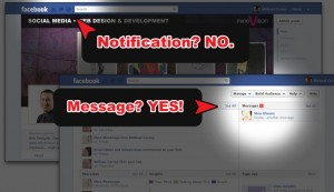 Notification? NO. Message? YES!