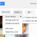 Event Actions menu