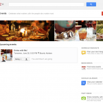 View of your Events page on G+