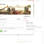 Google+ Events advanced options menu