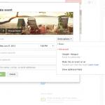 Google+ Events advanced options menu