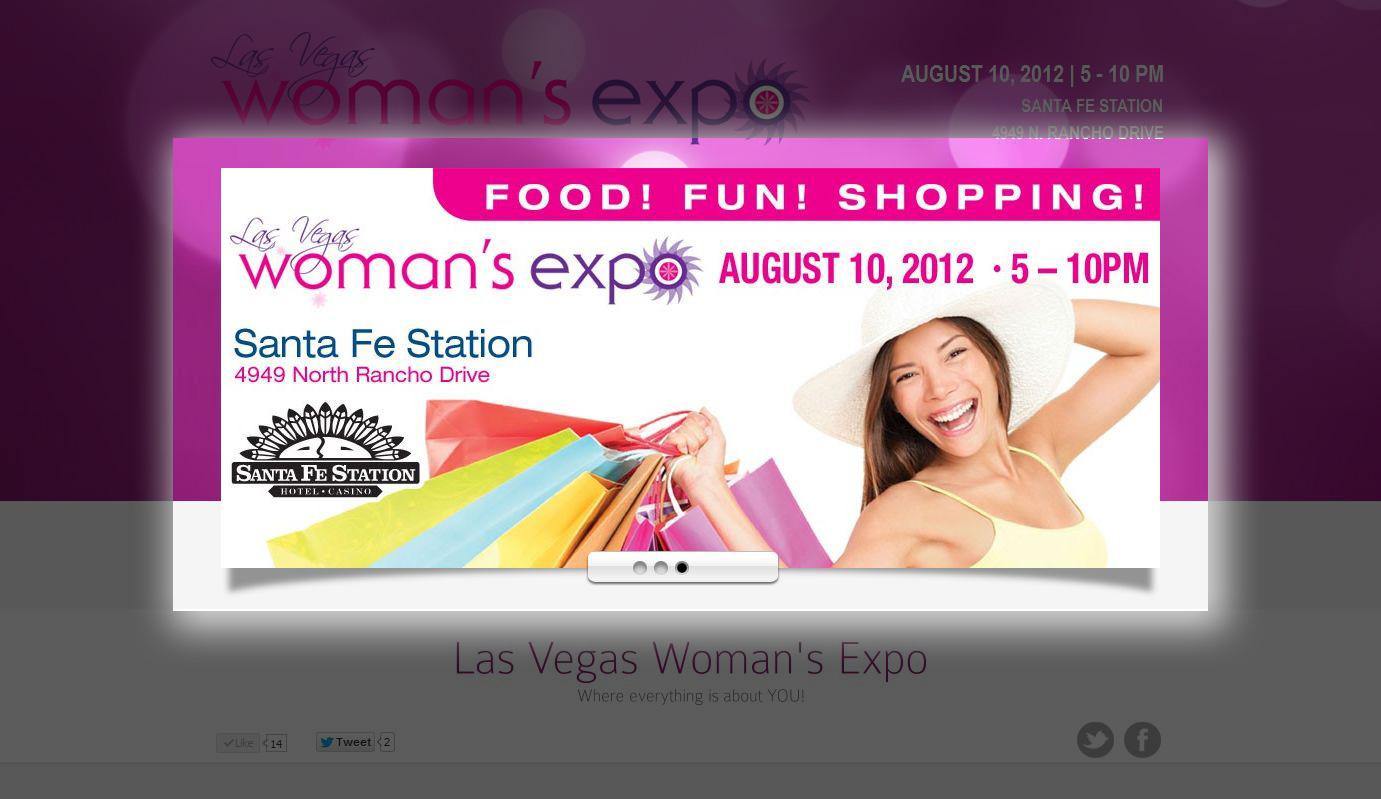 Landing Page Las Vegas Woman's Expo » Clients, Landing Pages