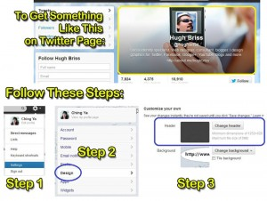 visual guide to getting the banner on your twitter account - via www.wchingya.com