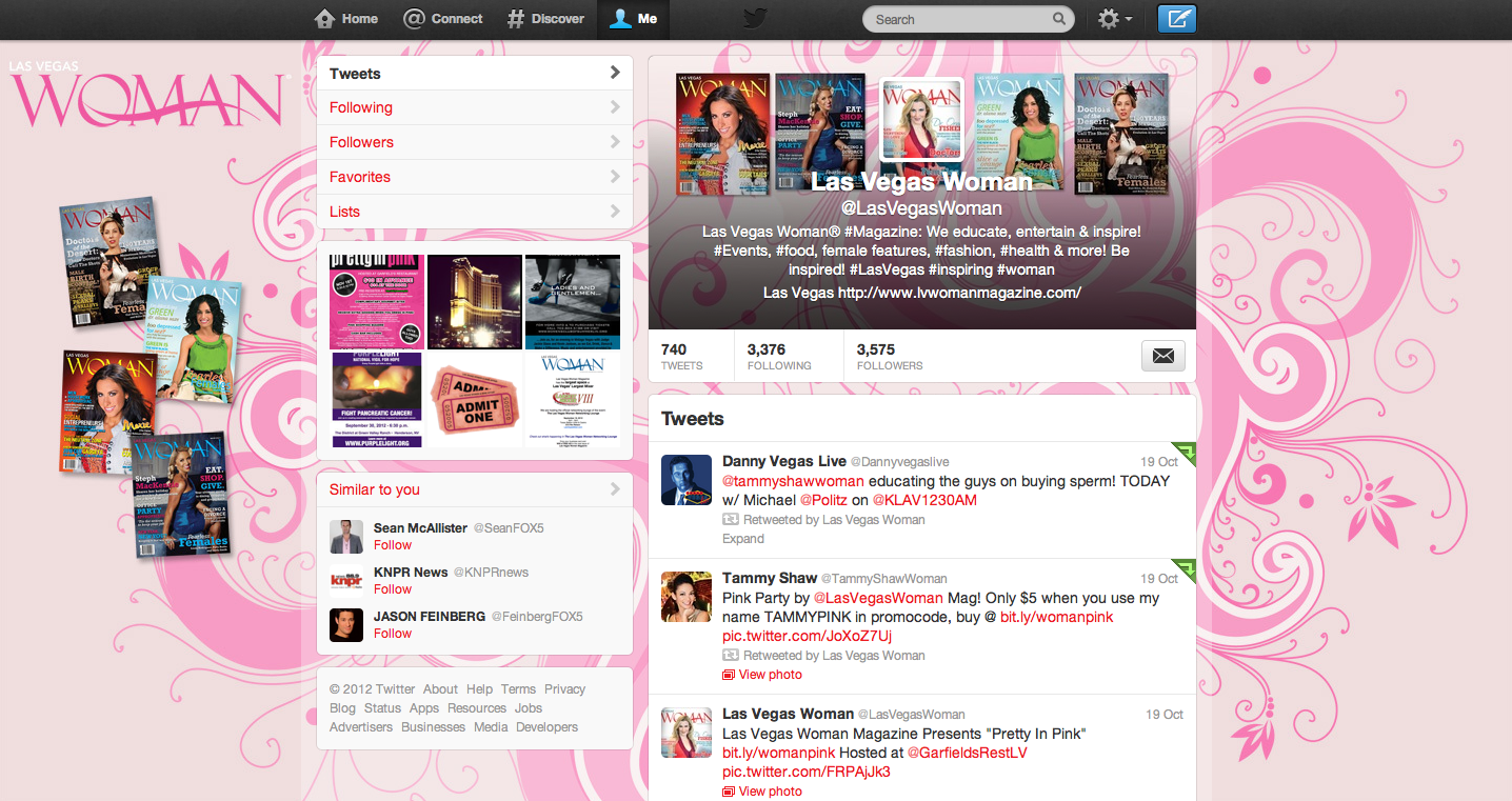 New Twitter Design Template: Combined Background and Header