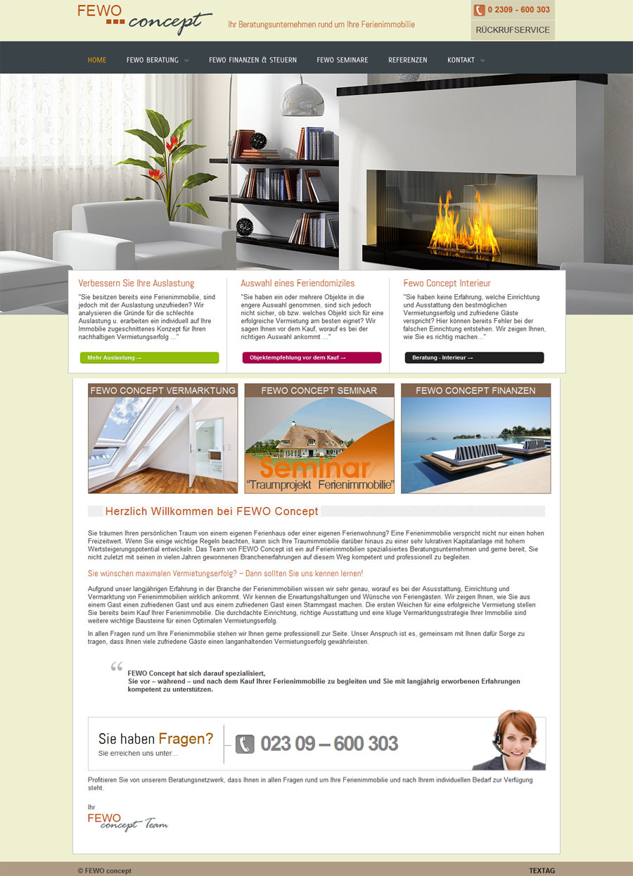 Fewo Concept Marketing   Selection   Interior Design Homepage