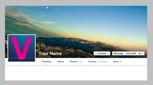 Cover photo template for personal profiles on Facebook