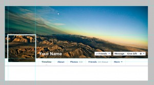 Cover photo template for personal profiles on Facebook - Seamless