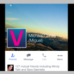 New design for personal profile on Facebook for iOS