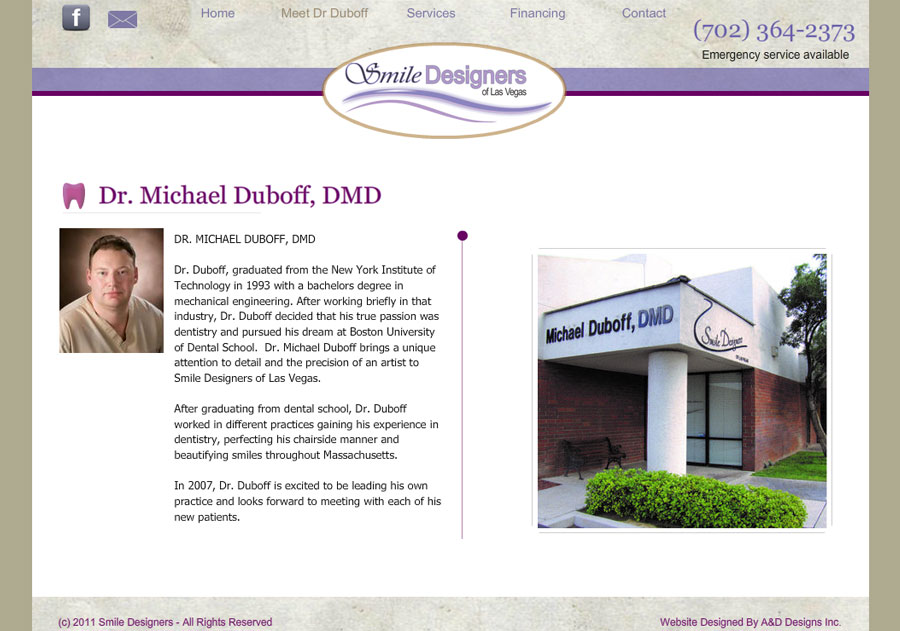 Dr Michael Duboff Dmd Before Inlinevision Web Development E Commerce Ppc Las Vegas Nv