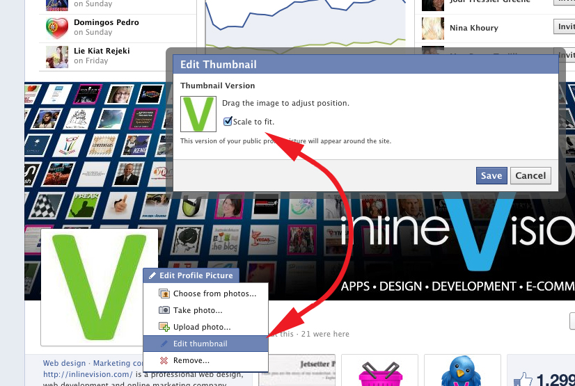 how to change settings on facebook profile picture