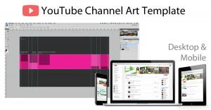 youtube channel art template devices