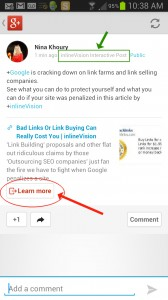 Google+ App View Detail