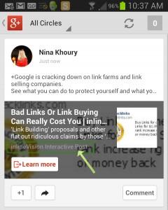 Google+ App View Newsfeed