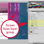 twitter background template screen sizes layer group