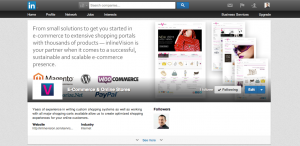 LinkedIn Showcase Page example banner - Before