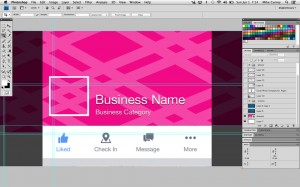 Facebook Cover Photo Template - Mobile Preview