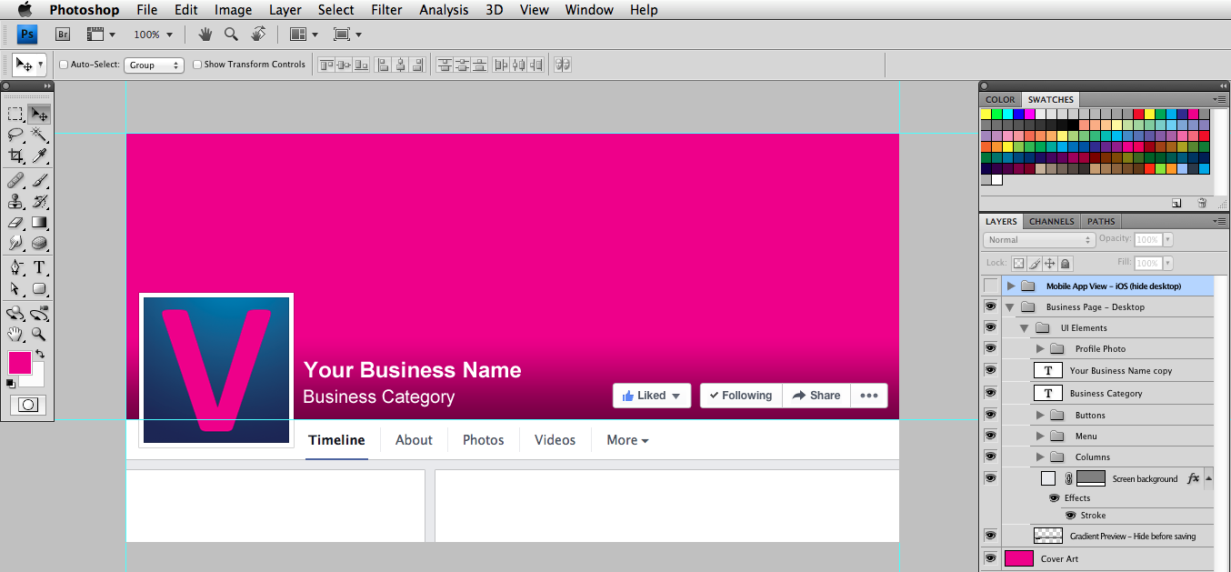 Facebook Cover Photo Template Desktop Inlinevision Web Design