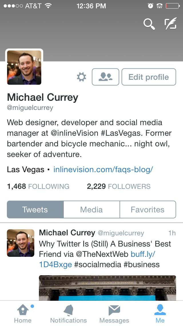 twitter mobile app screenshot