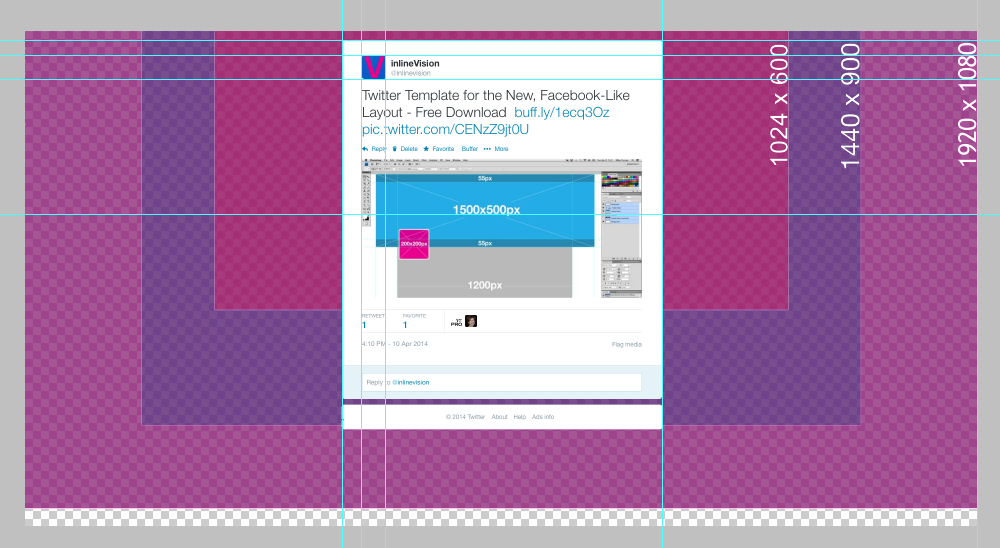 Twitter Background Template   Twitter Template For The New Facebook Like Layout Free Download