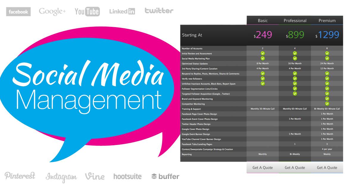 social media management   e