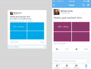 twitter collage desktop vs mobile difference
