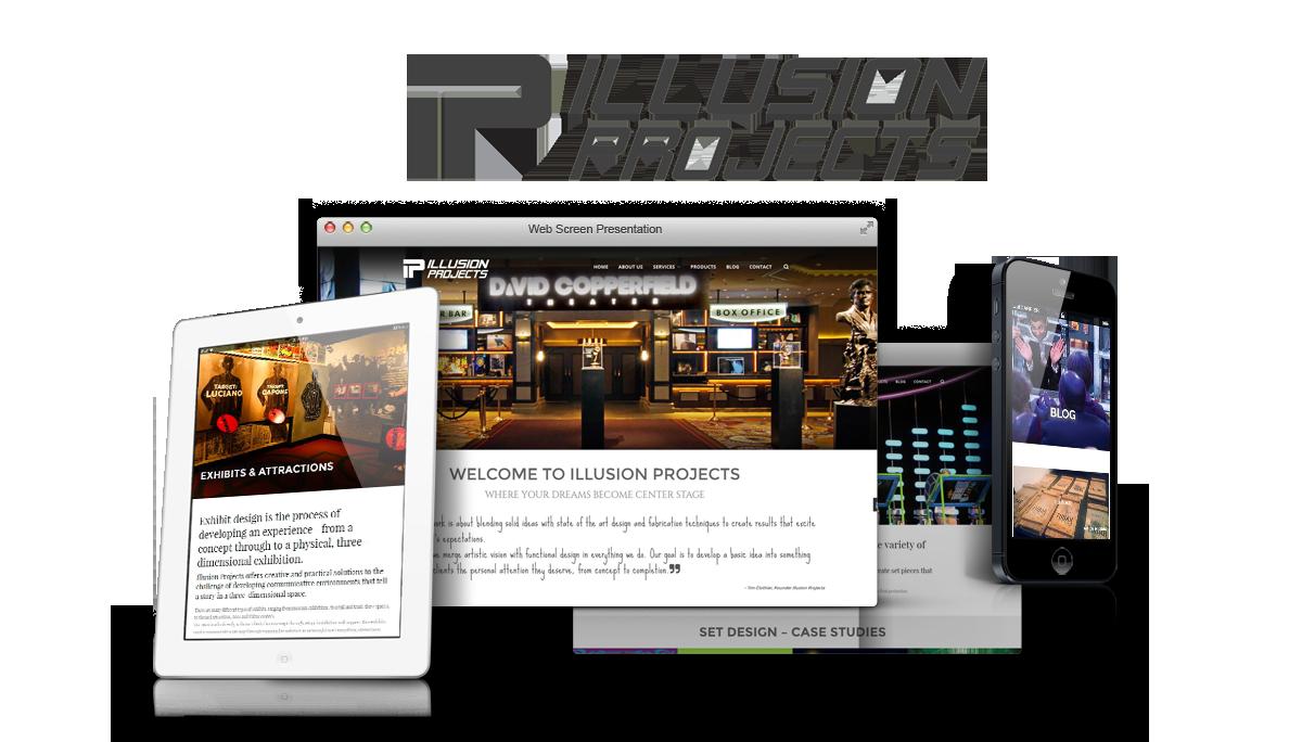 Tim Clothier's Illusion Projects, INC » Clients, Web Design