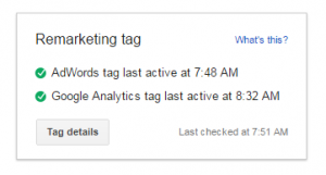 AdWords Tag - Analytics Tag