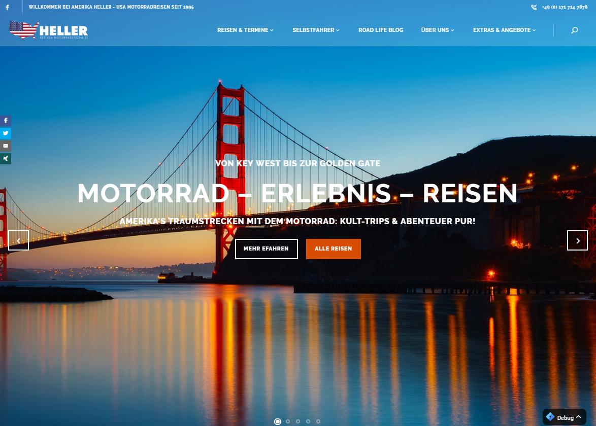 inlineVision: Amerika Heller USA Motorradreisen Mit der Harley durch Amerika